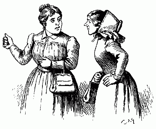 500x414 Public Domain Images Two Ladies Gossiping Girls Telling Stories