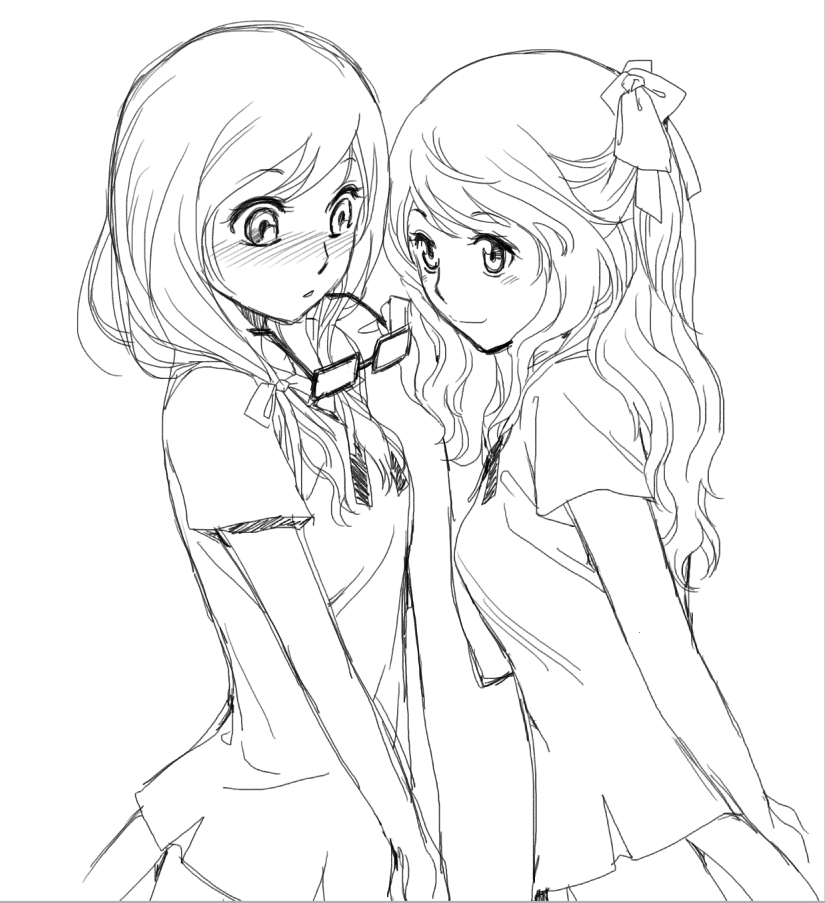 825x903 Two Girl By Rts1519