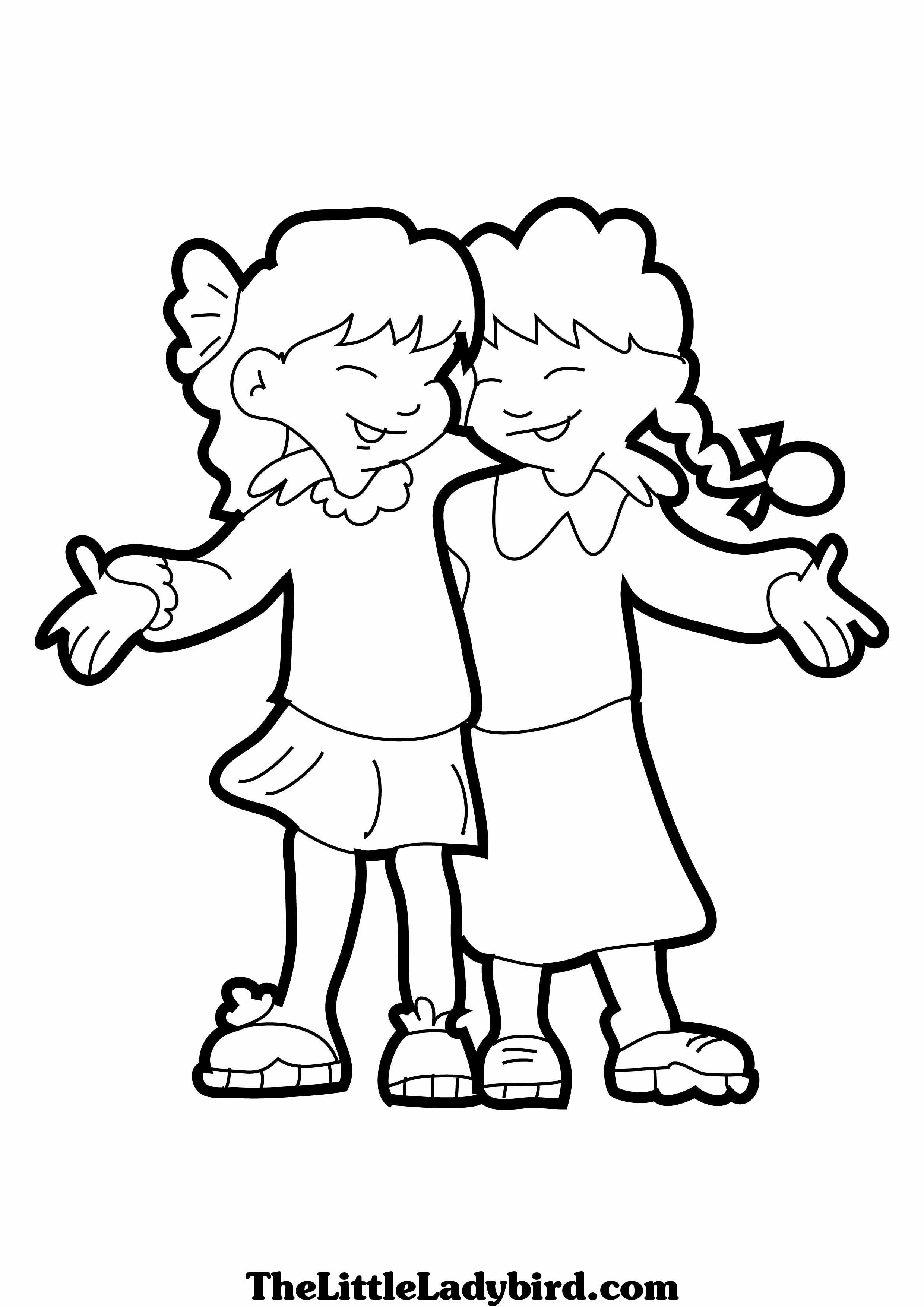 Two Girls Drawing at GetDrawings.com | Free for personal use Two ...