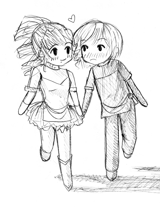 529x685 How To Draw Anime Couples Holding Hands Next Draw Out The Card He