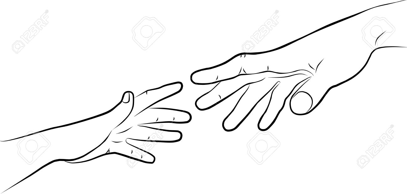 1300x622 Two Hands, Man And Woman Stock Photo, Picture And Royalty Free