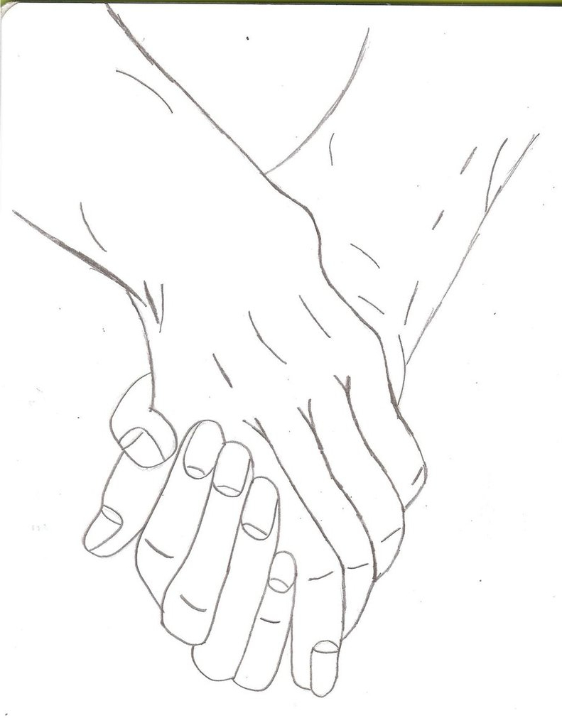 791x1011 Drawings Of People Holding People Two People Holding Hands By