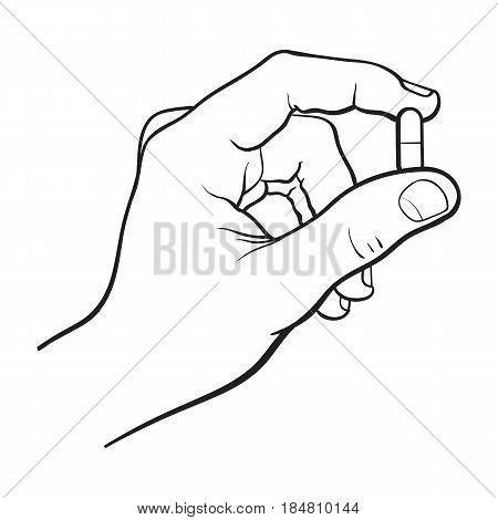 450x470 Hand Holding Two Piece Gelatin Vector Amp Photo Bigstock