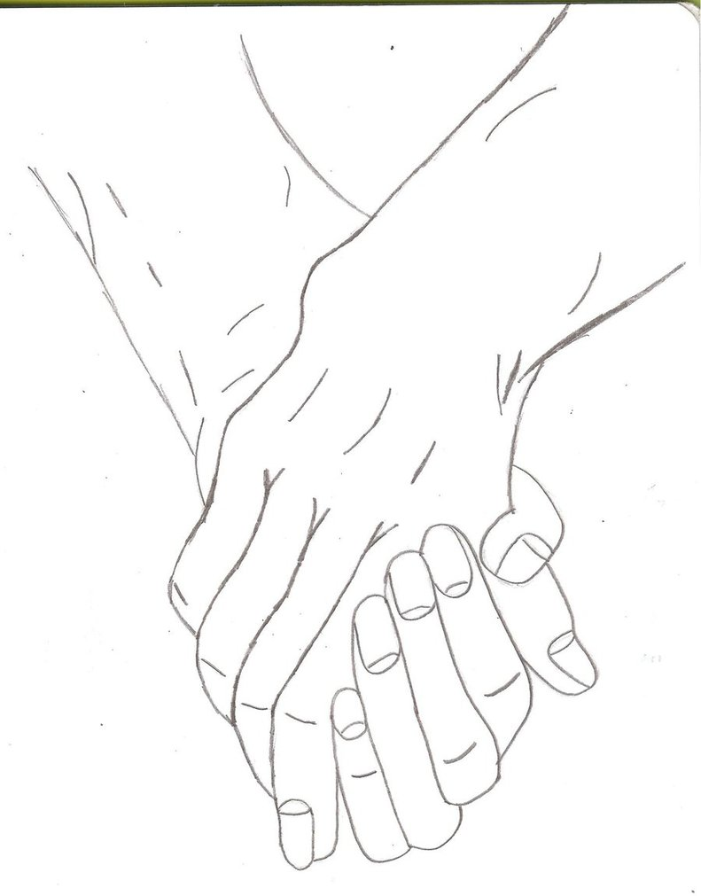 791x1011 Two People Holding Hands By Kittyness21