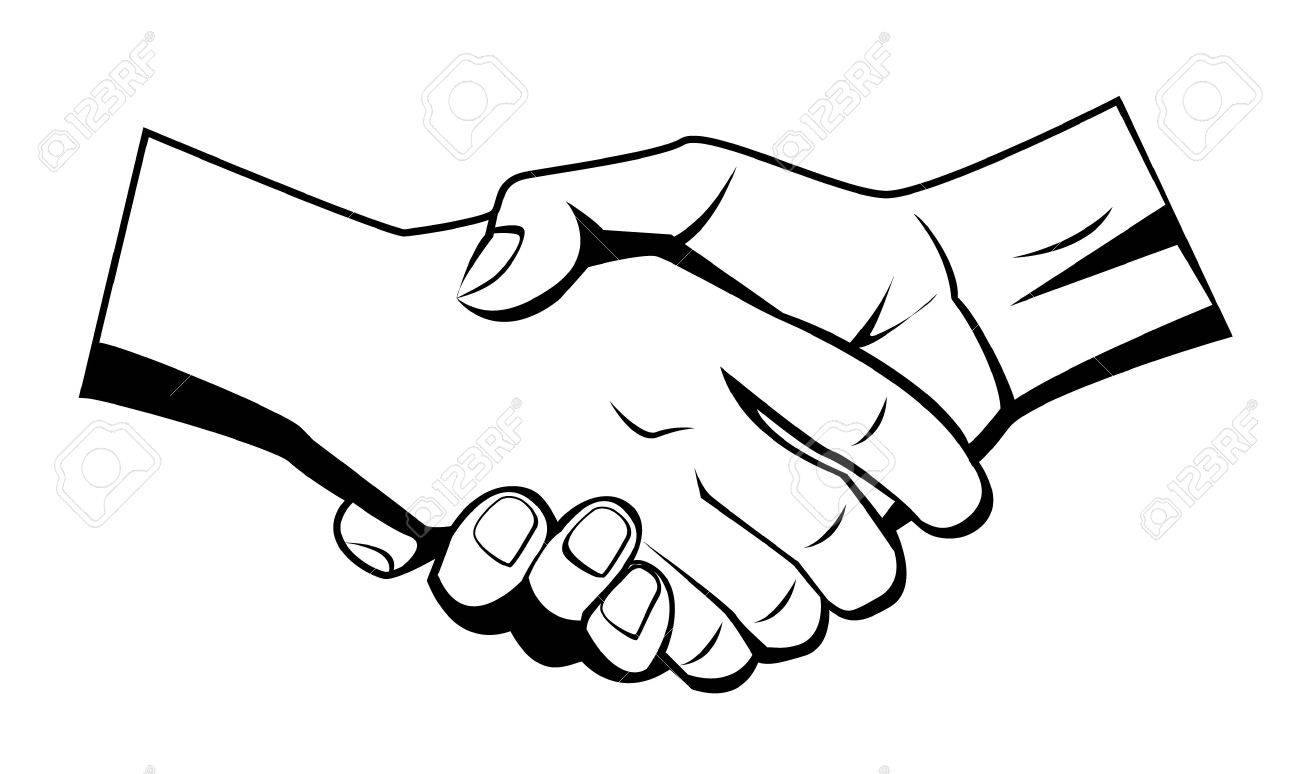 1300x774 Hand Shake Royalty Free Cliparts, Vectors, And Stock Illustration
