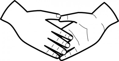 390x200 Open Praying Hands Drawing Clipart Panda