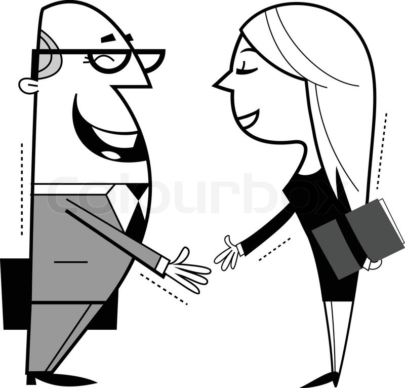 800x766 Shaking Hands Cartoon Illustration Stock Vector Colourbox