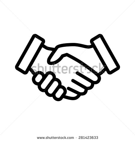450x470 Business Handshake Agreement Handshake Line Art Icon For Apps