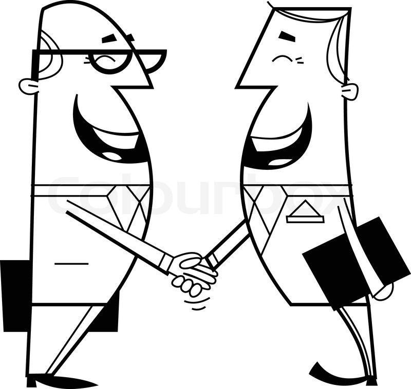 800x758 Businessmen Shaking Hands Stock Vector Colourbox
