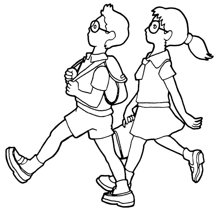 Two Kids Drawing