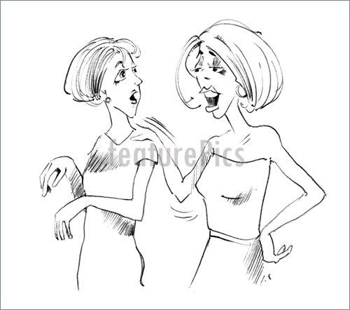 500x442 People Two Women Talking