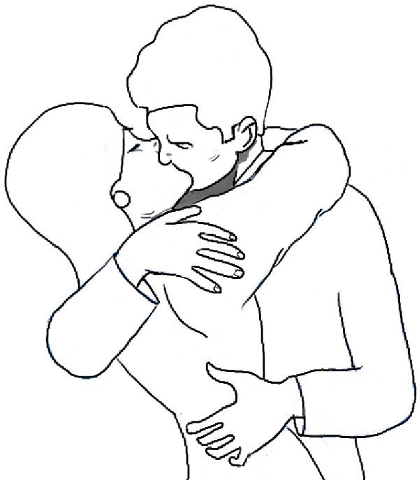 600x688 The Best Drawing People Kissing Ideas On People