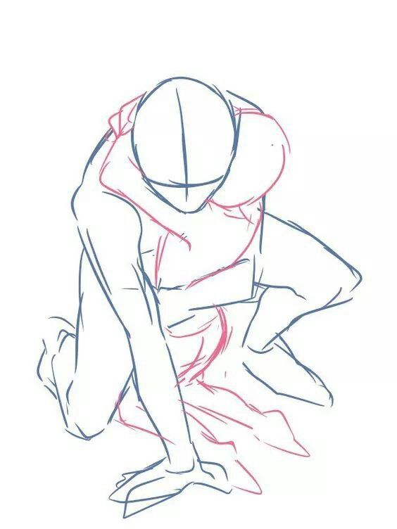 564x752 Crouching Hug Two People Pose Reference Draw The Squad