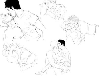 400x308 L16zew Couple Kissing Drawing