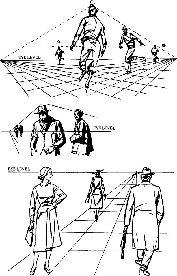 613x956 Drawing Figures Amp People In Perspective Drawing With One Point Two