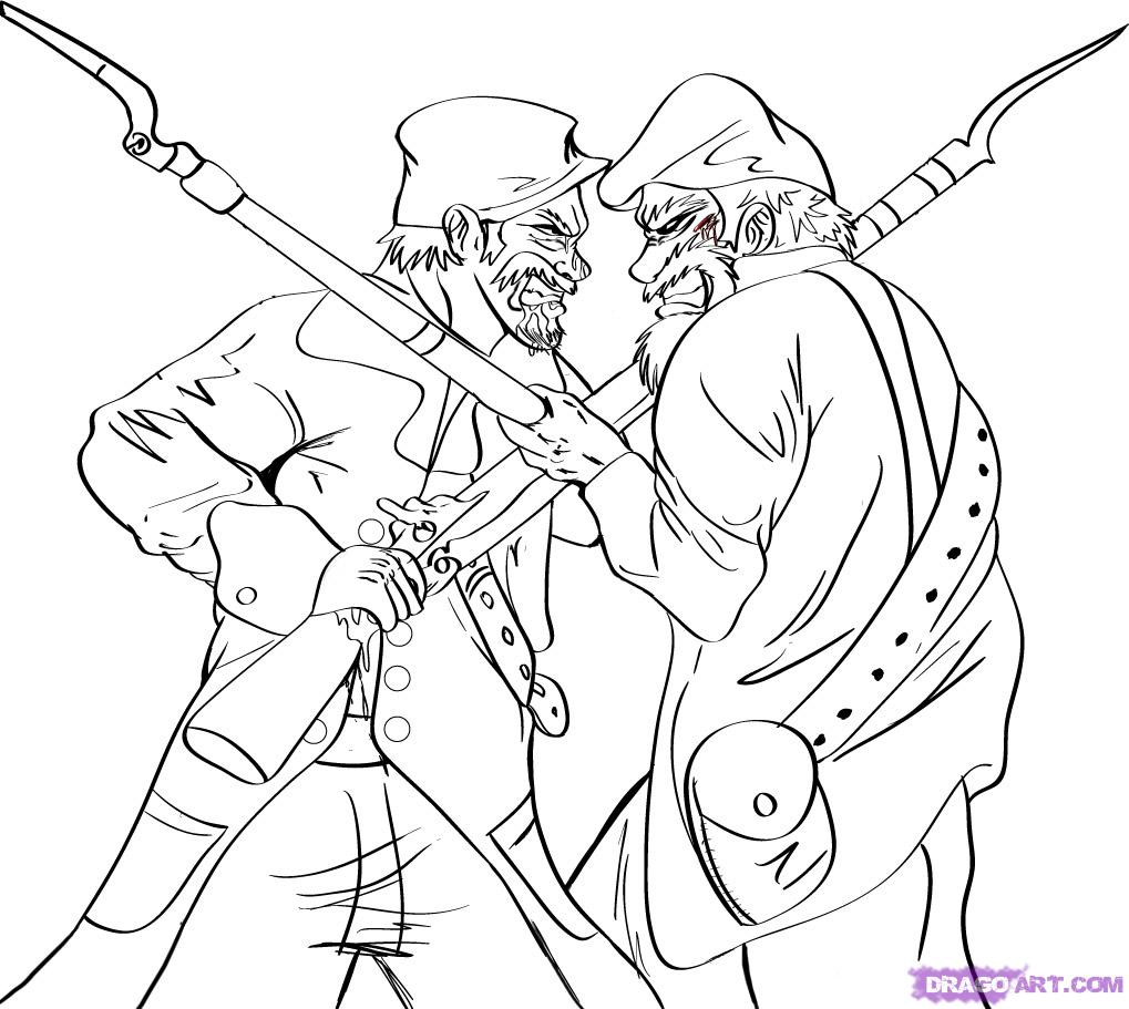 1019x911 Drawing Of Two People Fighting 8. How To Draw A Union Soldier