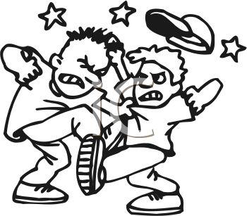 350x307 Two Boys Fighting