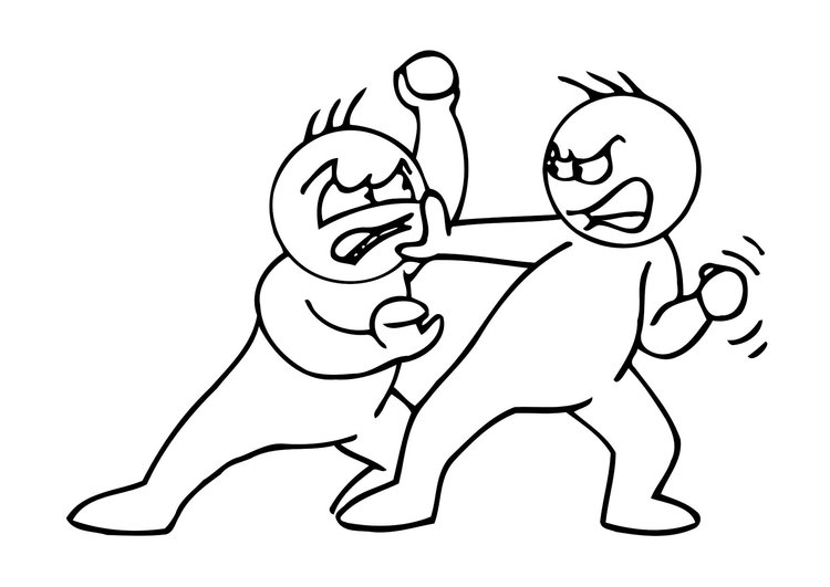 750x531 Coloring Page Fighting