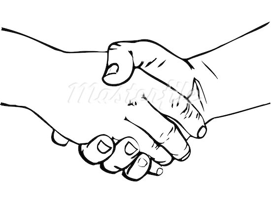 550x412 Hand Shaking Clipart