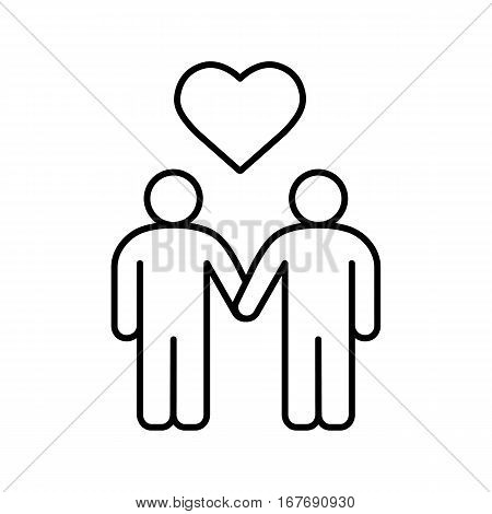 450x470 Homosexual Couple Linear Icon. Vector Amp Photo Bigstock