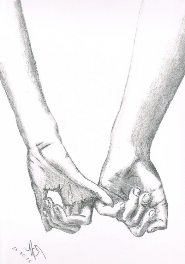 717x1024 Sketches Of People Holding Hands