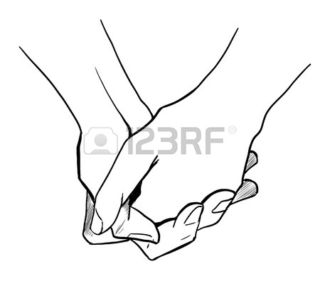 450x396 Two Persons Are Holding Hands Each Other Royalty Free Cliparts