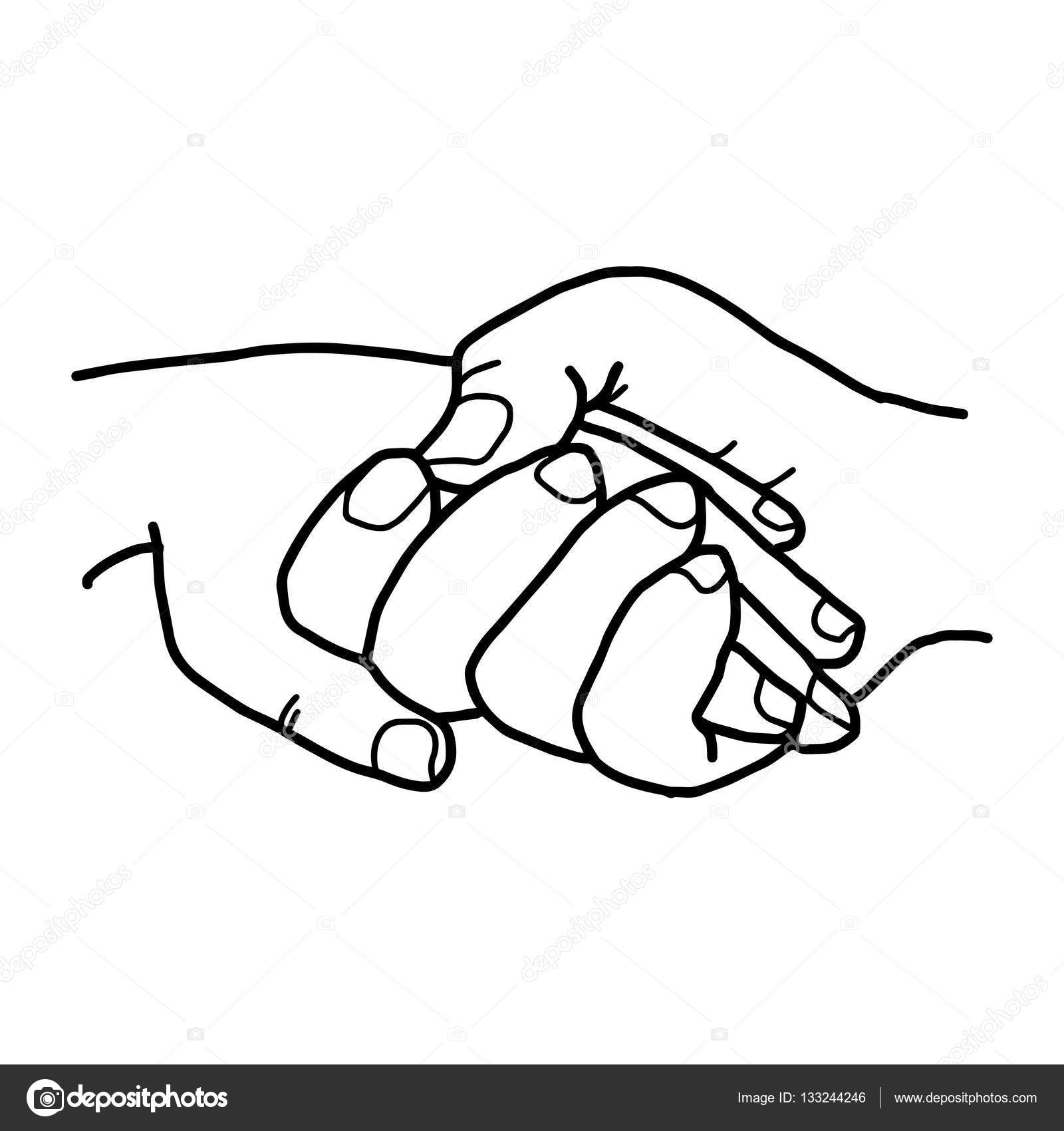 1600x1700 Illustration Vector Doodles Hand Drawn Two People Holding Hands