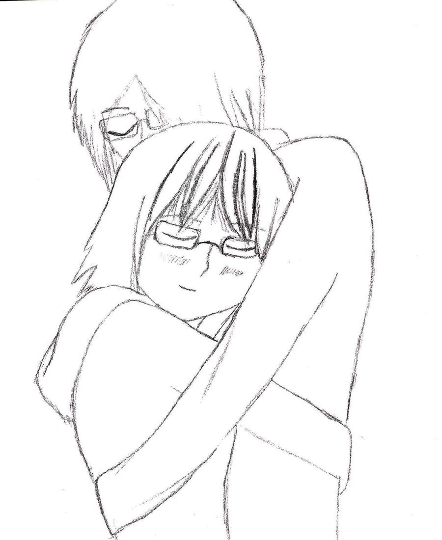900x1100 Easy Hugging Drawing Pic Couple How To Draw Two People Hugging