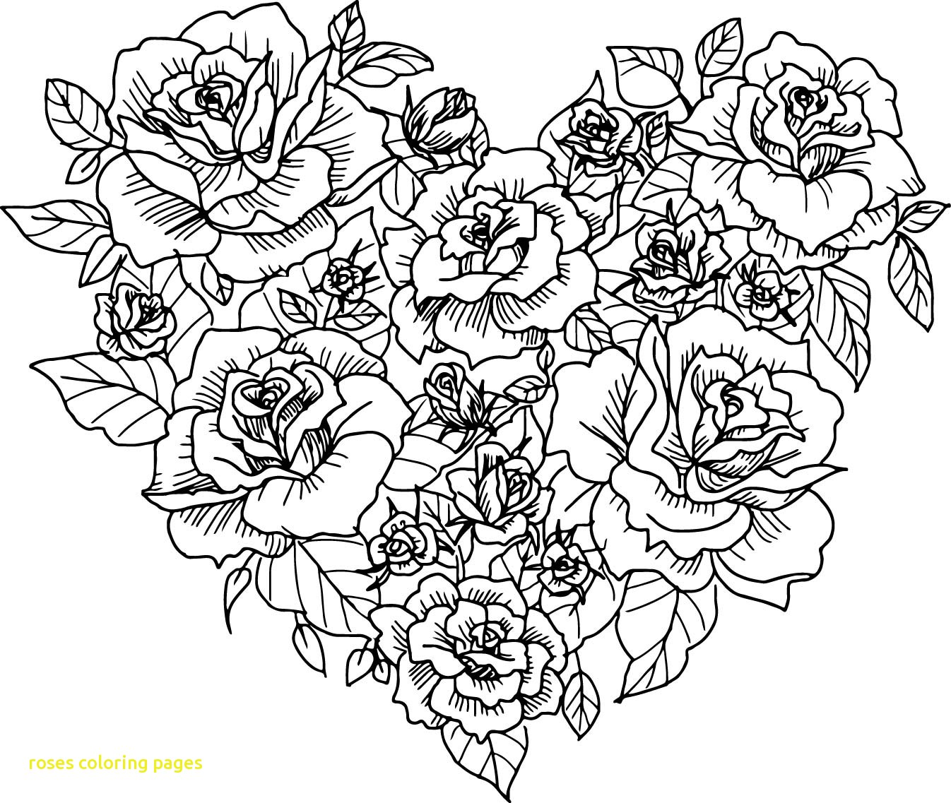 1346x1137 Coloring Book Roses Pages With Heart Rose Sketch P On Valentines