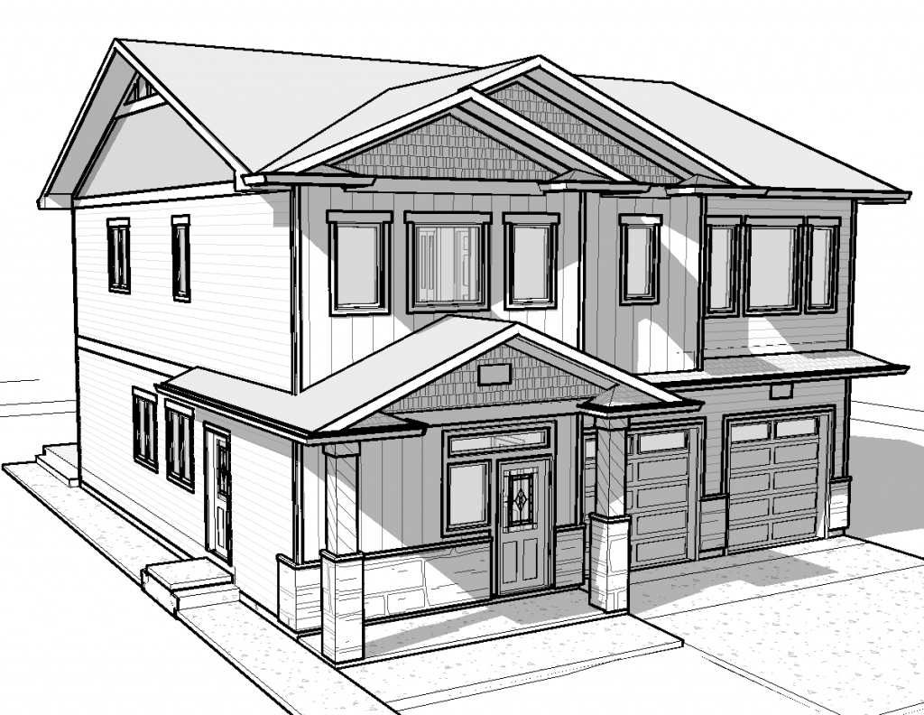 1024x792 Simple House Drawing Modern House