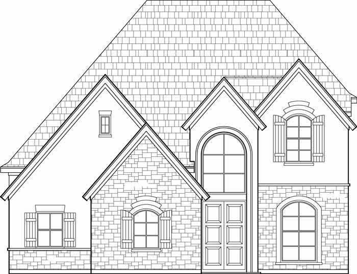 700x536 Two Story House Plan C8107