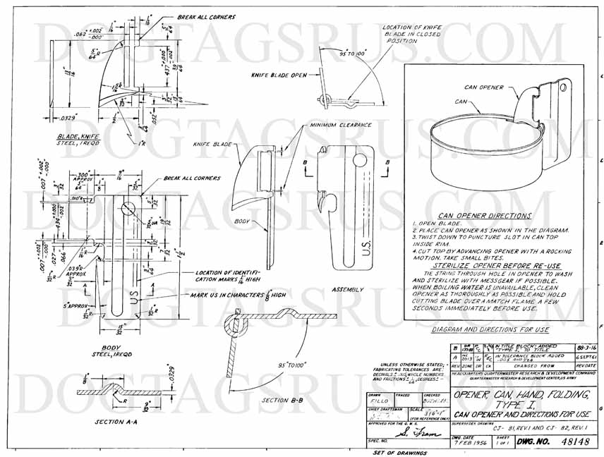 856x648 Military Specifications And Drawings For P 38 And P 51 Can Openers