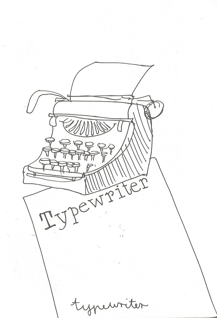Typewriter Drawing