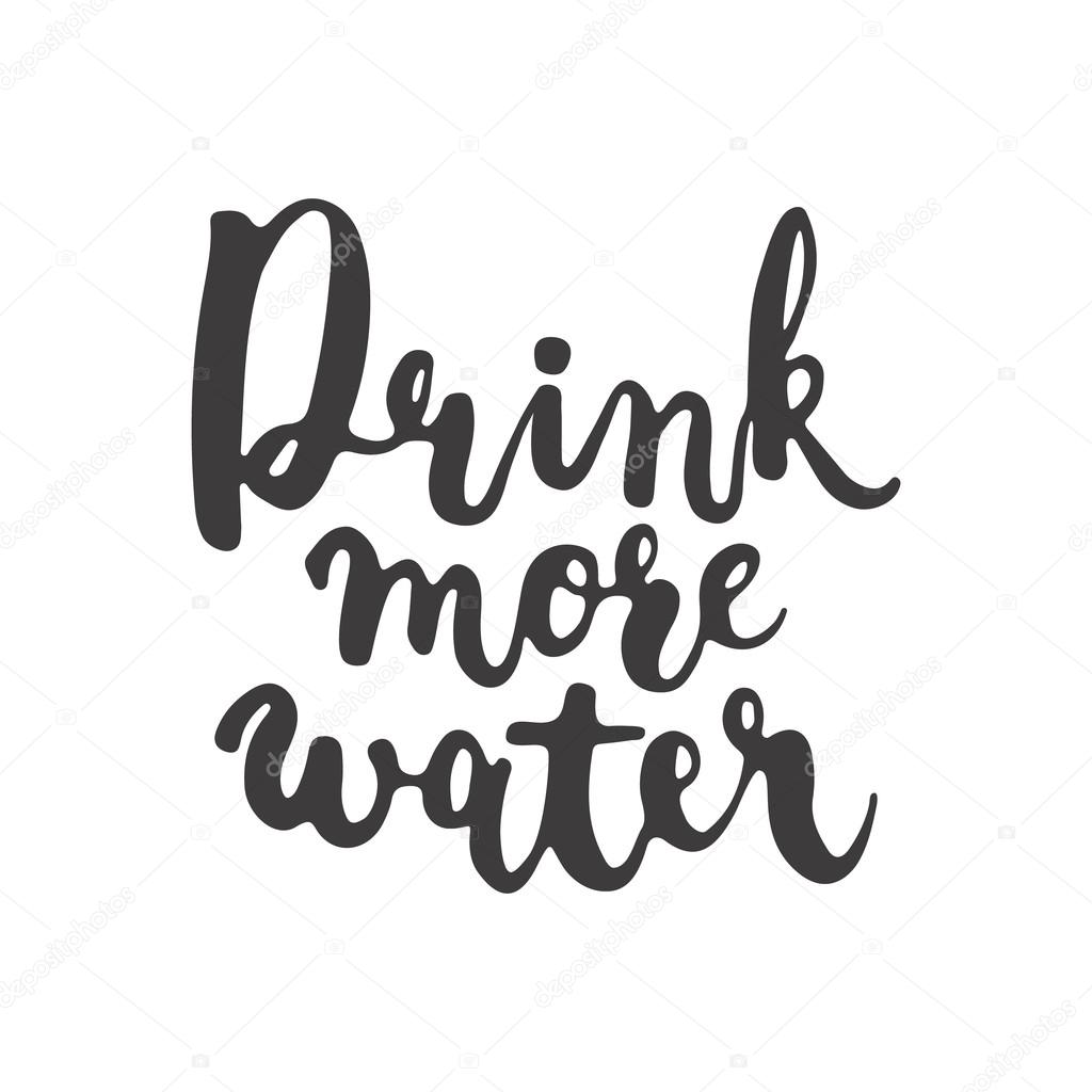 1024x1024 Hand Drawn Typography Lettering Phrase Drink More Water Isolated