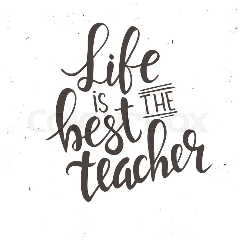 800x800 Life Is The Best Teacher. Hand Drawn Typography Poster. T Shirt