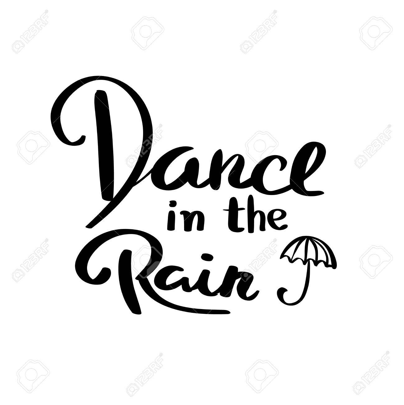 1299x1300 Dance In The Rain Typography Graphic Print Abstract Fashion