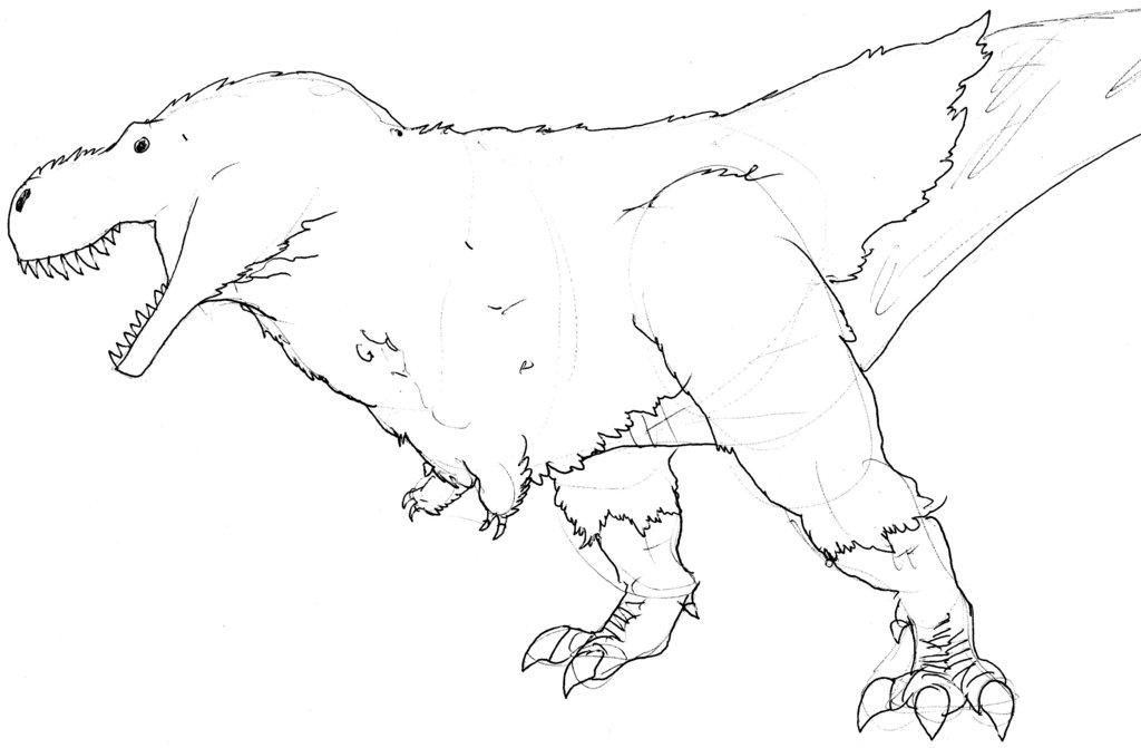 1024x671 Tyrannosaurus Rex [T. Rex] Reconstruction By Dinodilopho
