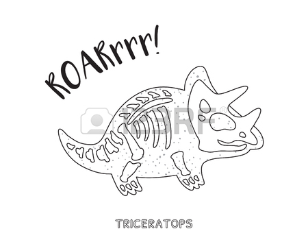 450x353 Tyrannosaurus Rex Skeleton Outline Drawing. Fossil Of A T Rex
