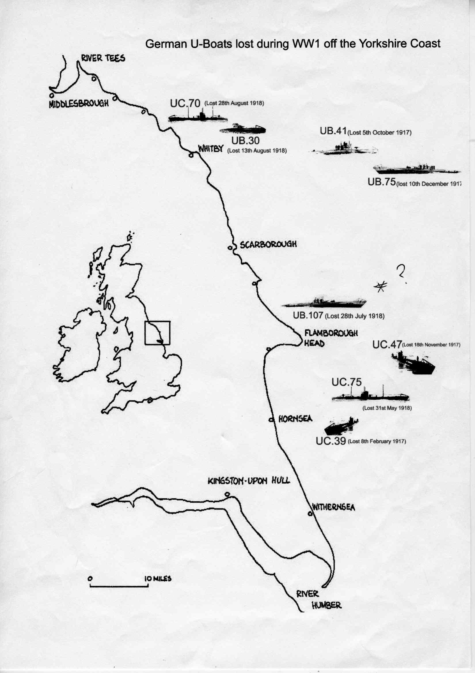 1650x2335 Scarborough Maritime Heritage Centre U Boat Wreck Map