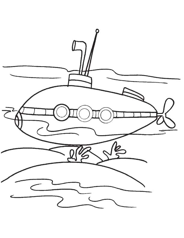 612x792 Submarine Coloring Pictures Submarine Coloring Pages