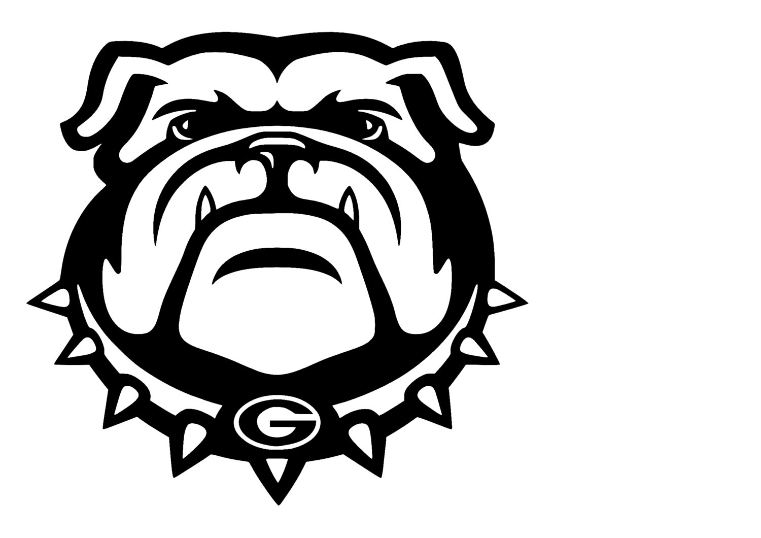 1500x1060 University Of Georgia Bulldogs Decal Svg Cut Files Instant