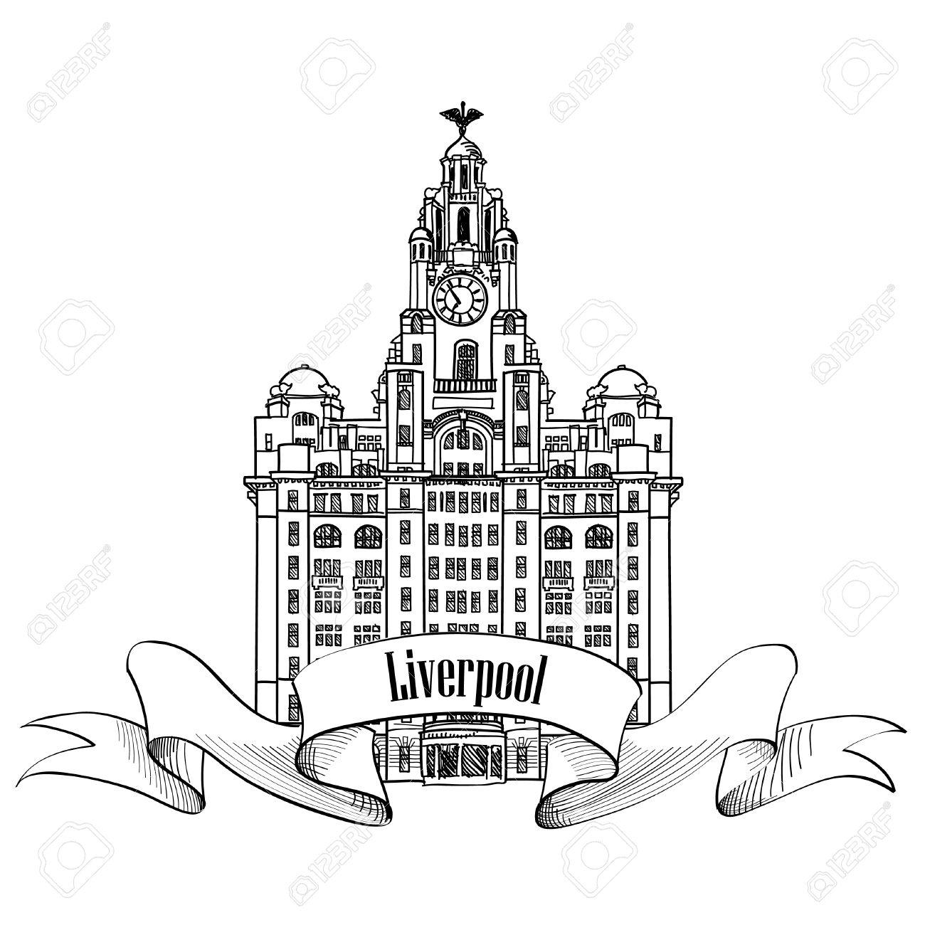 1300x1300 Travel England Sign. Liverpool Liver Building, Uk, Great Britan