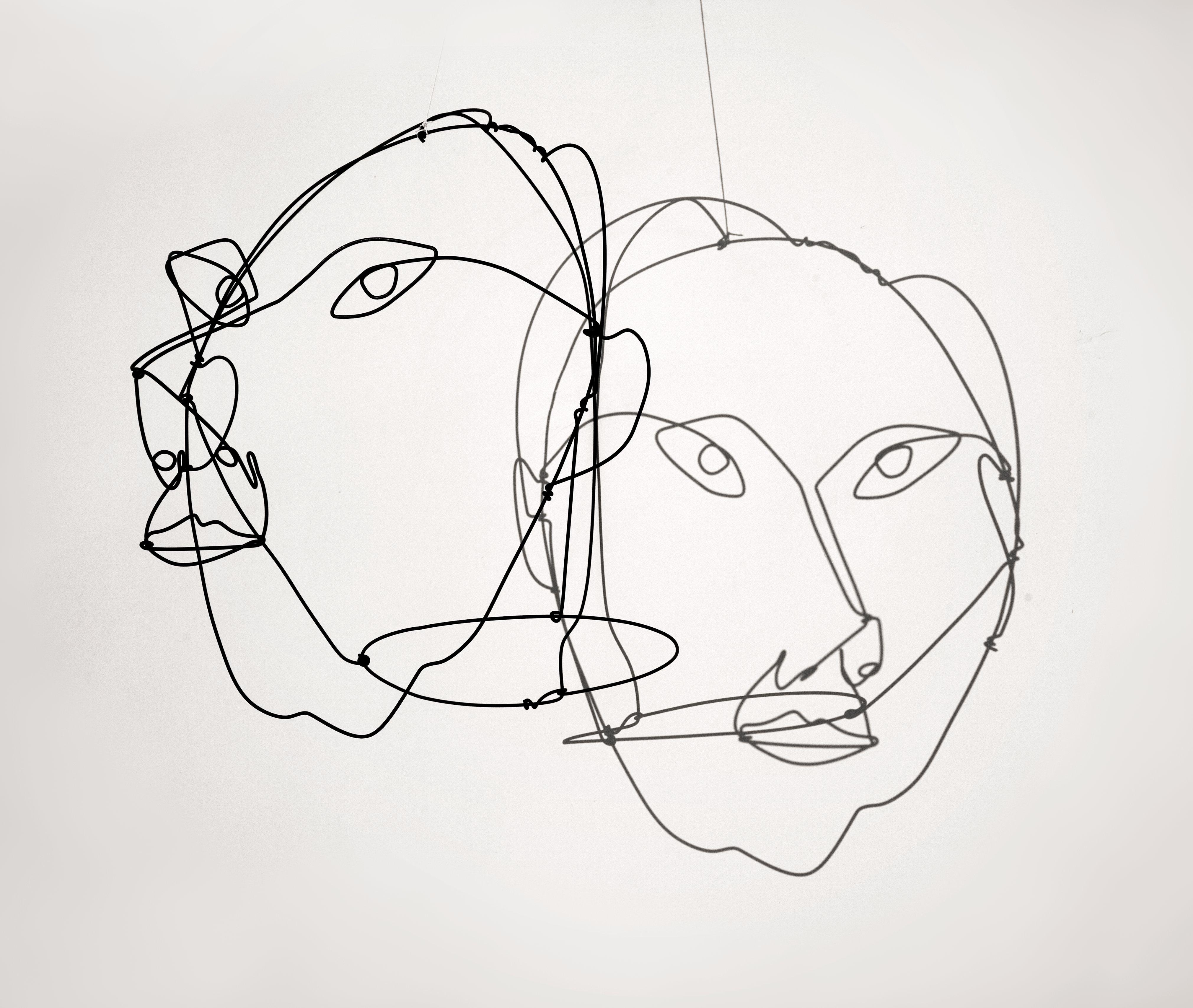 4040x3413 Calder Wire Portraits Mr.deyo