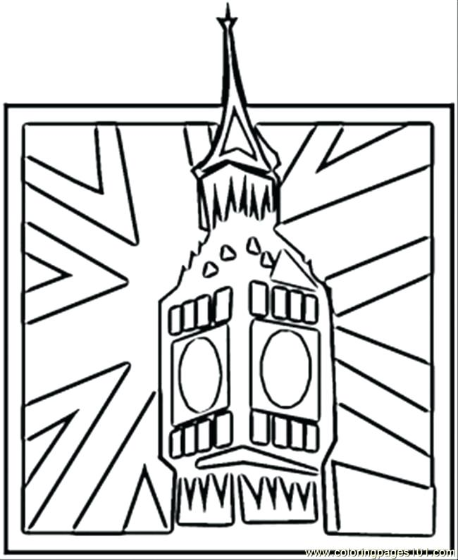 650x795 Great Britain Flag Coloring Page Of Uk