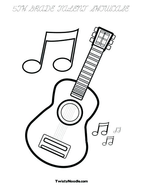 468x605 String Family Coloring Page Instrument Sheets Ukulele