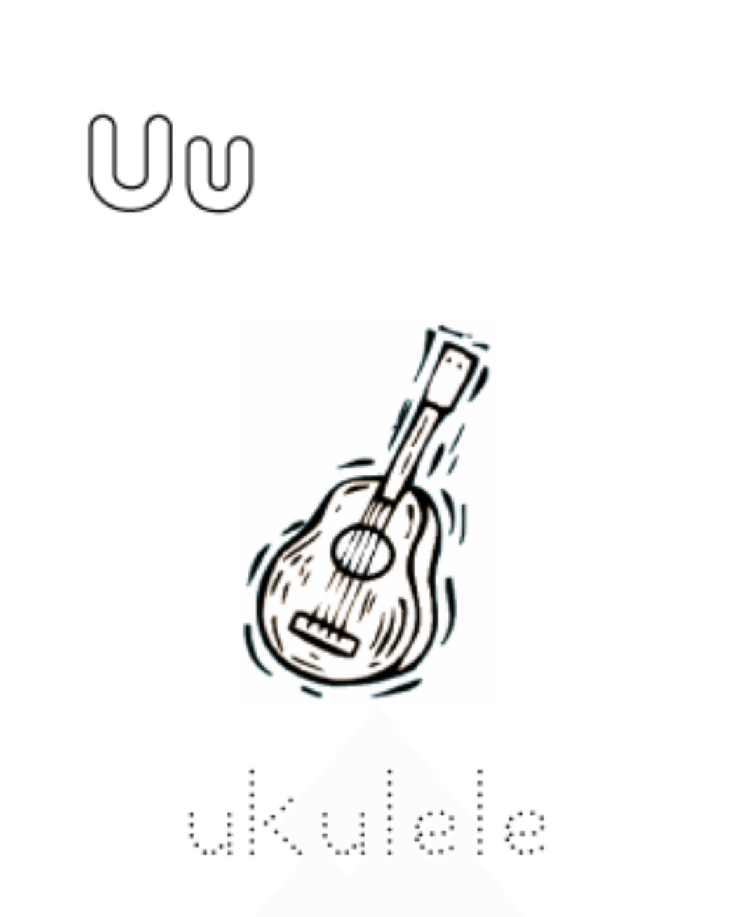 1045x1308 Ukulele Alphabet Coloring Pages Free Alphabet Coloring Pages