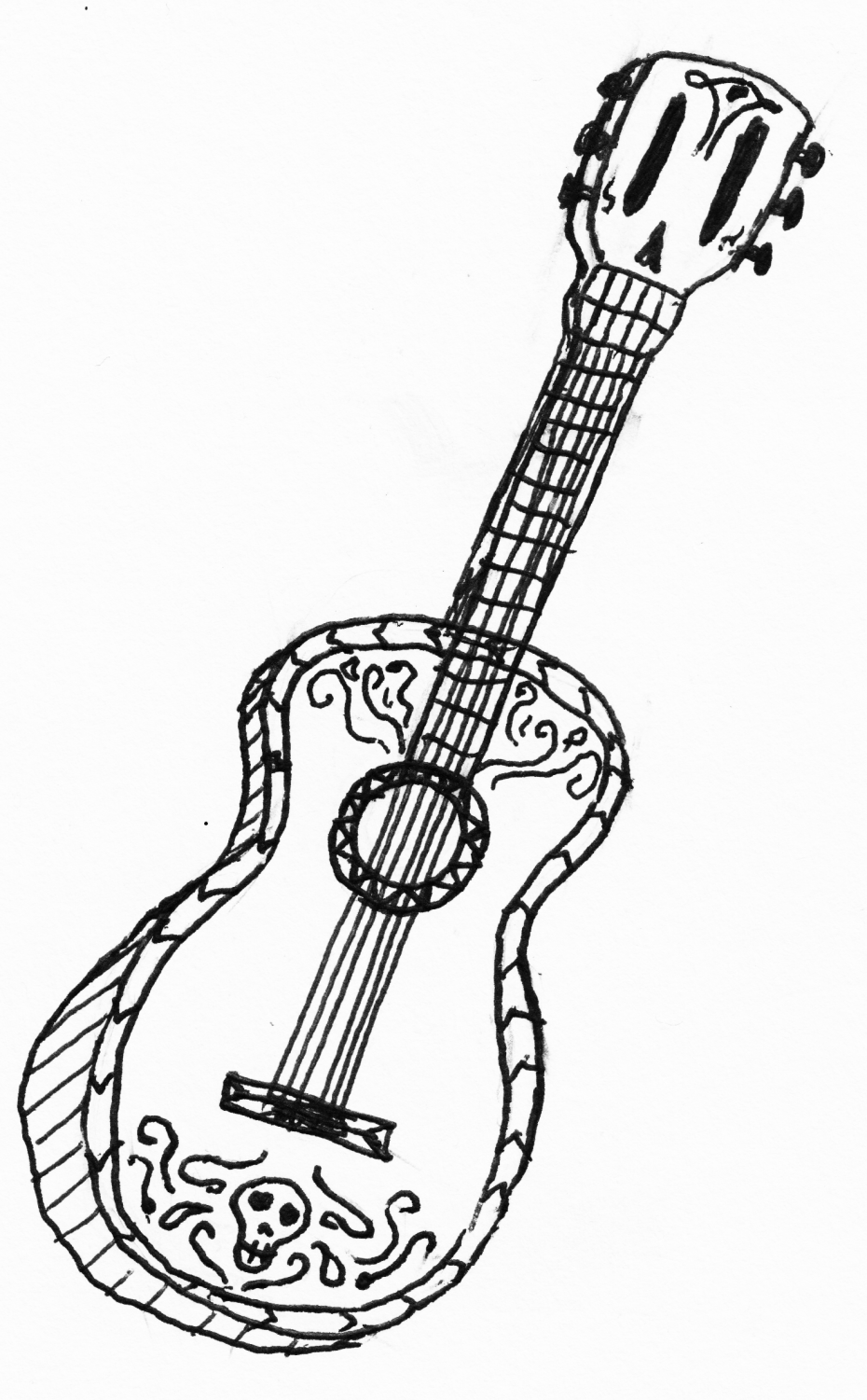 Ukulele Line Drawing At Getdrawings Com Free For Personal Use