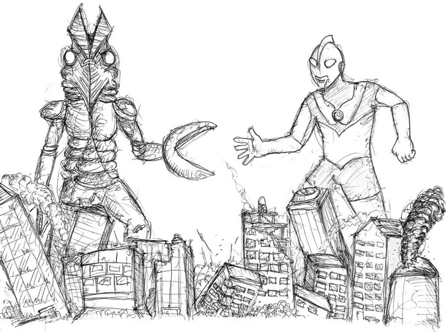 Ultraman Drawing