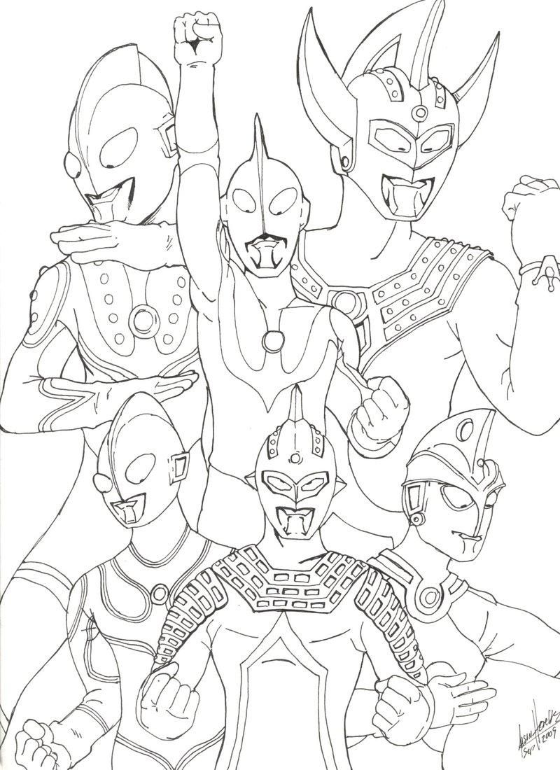 ultraman coloring pages - photo#8