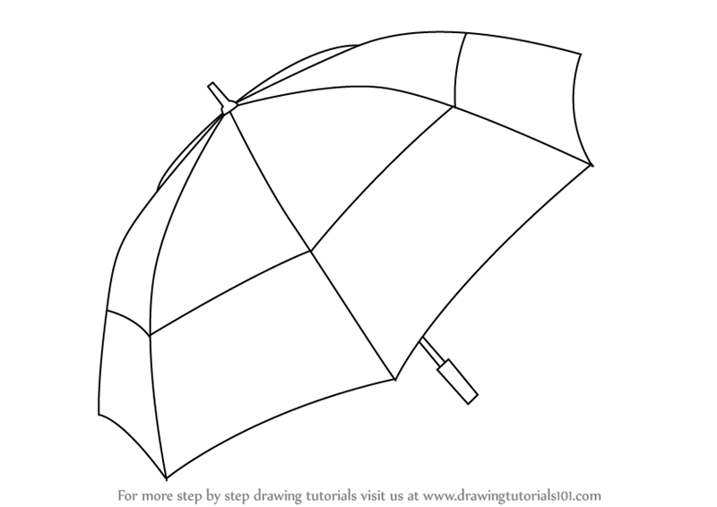 800x566 Learn How To Draw An Umbrella (Everyday Objects) Step By Step